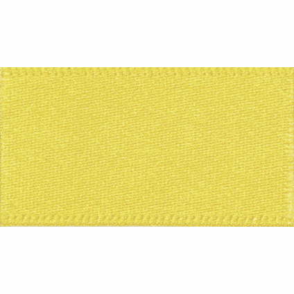 Double Faced Satin Ribbon Yellow 679 - 1m